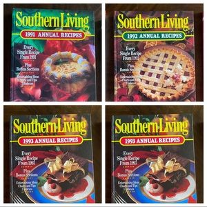 Southern Living Annual Cookbooks 1991, 92, 93, 95